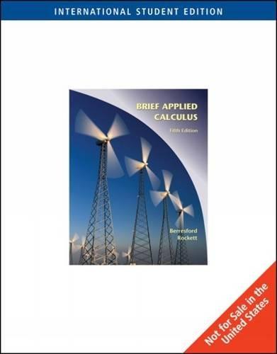 9780495831709: Applied Calculus, Brief International Edition