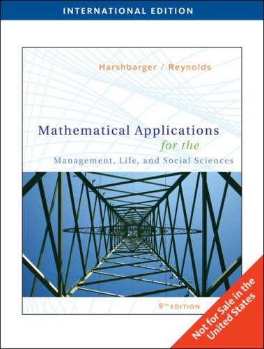 9780495831723: Mathematical Applications for the Management, Life, and Social Sciences, International Edition