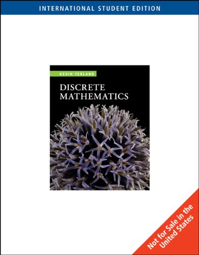 9780495831747: Discrete Mathematics: An Introduction to Proofs and Combinatorics, International Edition