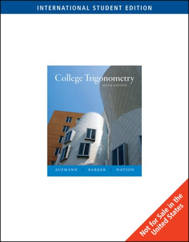 9780495832041: College Trigonometry, International Edition