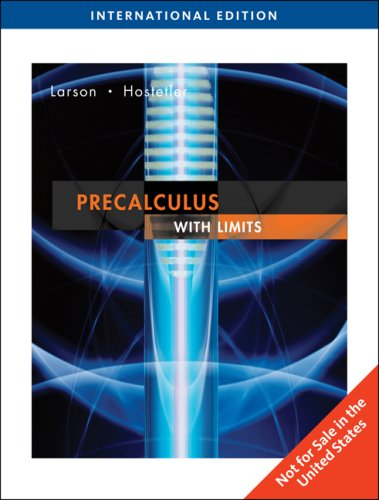 9780495832386: Precalculus with Limits, International Edition