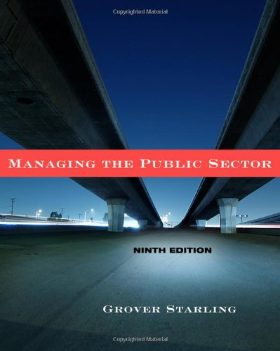9780495833192: Managing the Public Sector
