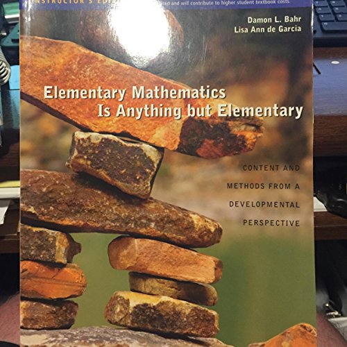 9780495833901: Elementary Mathematics Is Anything but Elementary
