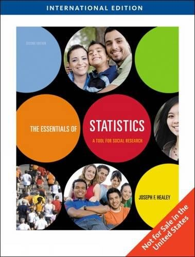 9780495834281: The Essentials of Statistics: A Tool for Social Research, International Edition