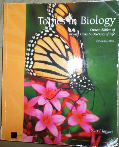 9780495841418: Topics in Biology (Custom Edition of Biology, Unity & Diversity of Life)