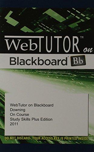 WebTutor(TM) on Blackboard Printed Access Card for: Downing, Skip