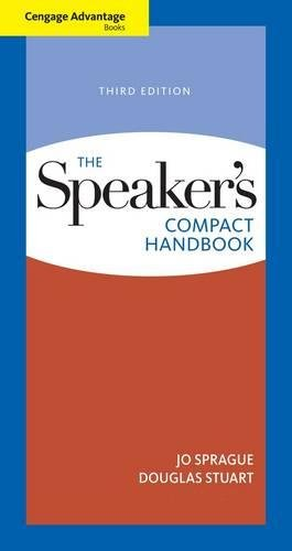 9780495898337: Cengage Advantage Books: The Speaker's Compact Handbook