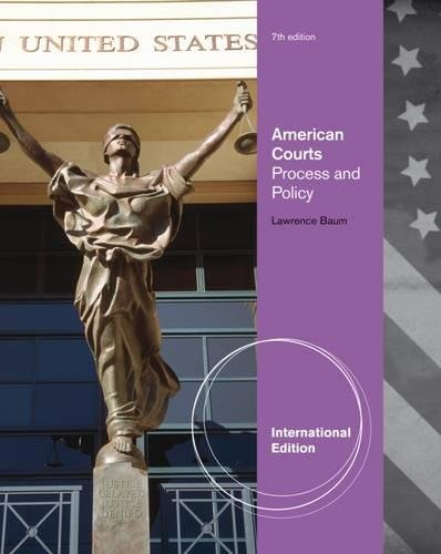 9780495898528: American Courts: Process and Policy, International Edition