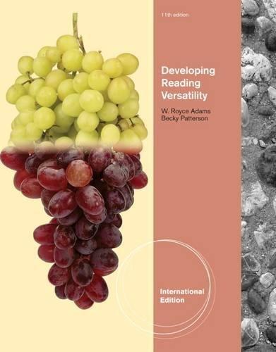 9780495898825: Developing Reading Versatility, International Edition