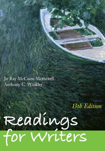 9780495899495: Readings for Writers (with 2009 MLA Update Card)