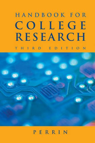 9780495899525: Handbook for College Research (with 2009 MLA Update Card)