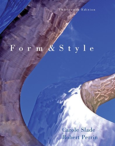 9780495899587: Form and Style (with 2009 MLA Update Card)
