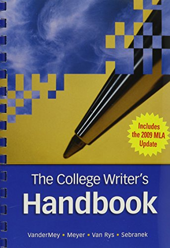 9780495899693: The College Writer's Handbook (with 2009 MLA Update Card)