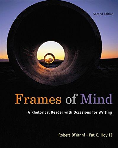 9780495899853: Frames of Mind: A Rhetorical Reader (with 2009 MLA Update Card)