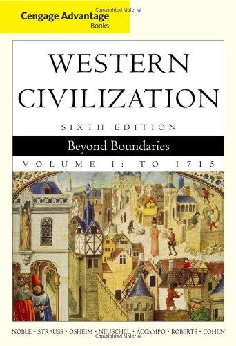 9780495900733: Cengage Advantage Books: Western Civilization: Beyond Boundaries, Volume I