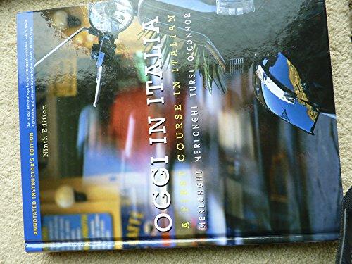 9780495900771: Oggi in Italia: A First Course in Italian (English and Italian Edition)
