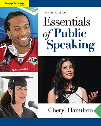 Essentials of Public Speaking: Hamilton, Cheryl