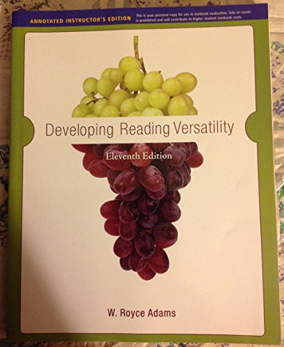 9780495901143: Developing Reading Versatility