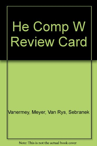 Wadsworth Cengage Learning, Comp Read Instructor's Edition: Meyer, Van Rys,