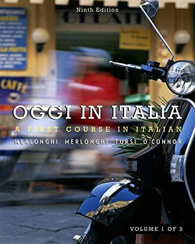 9780495901921: Oggi In Italia, Volume I