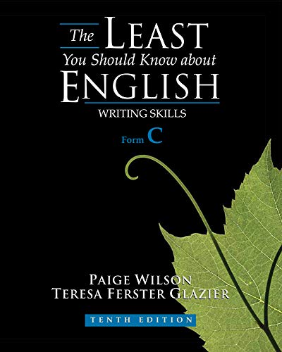 9780495902867: The Least You Should Know About English: Writing Skills, Form C