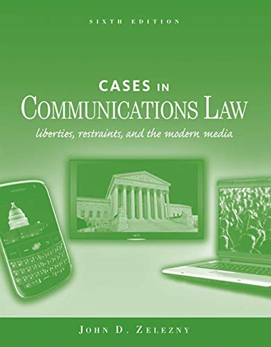 9780495902973: Cases in Communications Law (McGraw-Hill Series in Mass Communication and Journalism)