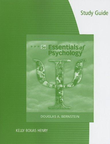9780495903901: Study Guide for Bernstein/Nash's Essentials of Psychology, 5th