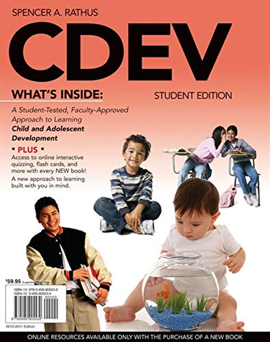 9780495905530: CDEV (with Review Card and CourseMate with eBook, 1 term (6 months) Printed Access Card) (Engaging 4LTR Press Titles in Psychology)