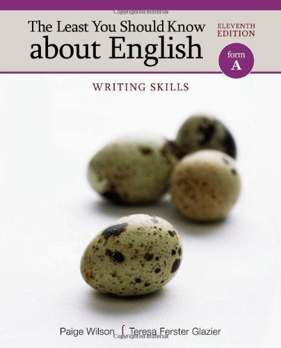 9780495906339: The Least You Should Know about English, Form A: Writing Skills
