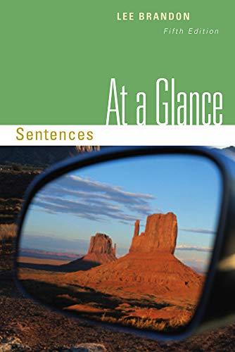 9780495906377: At a Glance: Sentences