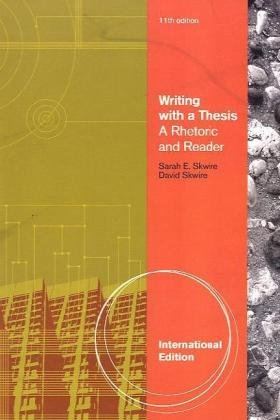 9780495906704 Writing With A Thesis International Edition