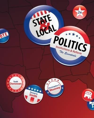 9780495908104: State & Local Politics: Institutions & Reform: The Essentials