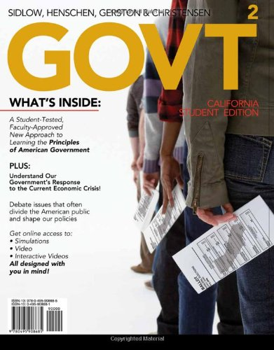 9780495908685: GOVT 2, California Edition (with Political Science CourseMate with eBook and InfoTrac 1-Semester Printed Access Card) (Available Titles CourseMate)
