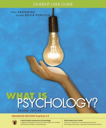 Student User Guide with PsykTrek 3.0 Online Printed Access Card for Pastorino/Doyle-Portillo's What is Psychology? PsykTrek Updated Edition, 2nd (0495909866) by Pastorino, Ellen E.; Doyle-Portillo, Susann M