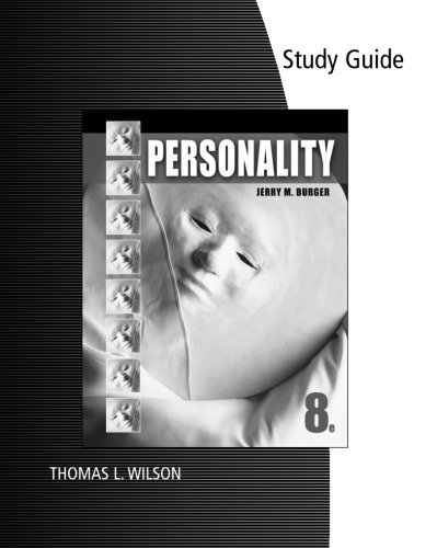 9780495909903: Study Guide for Burger's Personality