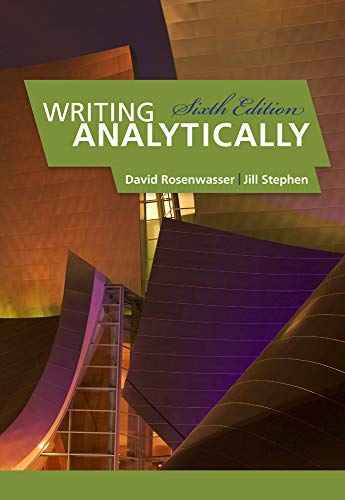 Writing Analytically: David Rosenwasser; Jill Stephen
