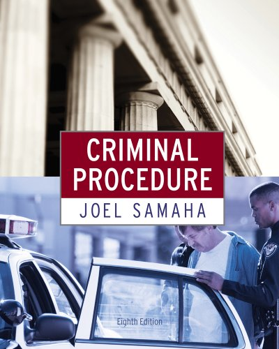 Criminal law (with cd-rom and infotrac): joel samaha.