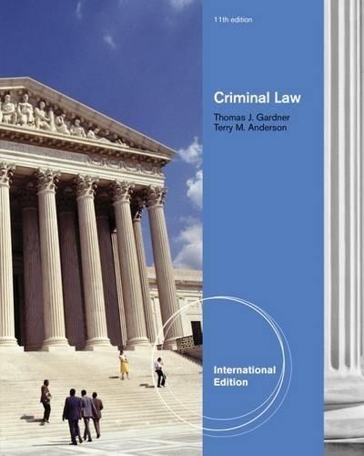 9780495913672: Criminal Law, International Edition