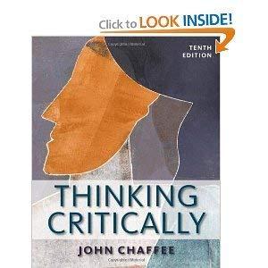 9780495914020: Thinking Critically