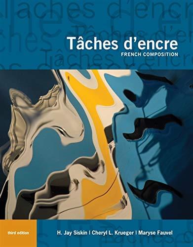 9780495915539: Tâches d'encre: French Composition (World Languages)