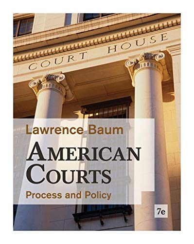 9780495916376: American Courts: Process and Policy