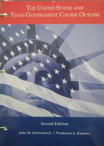 The United States and Texas Government Course: Jr., John M.
