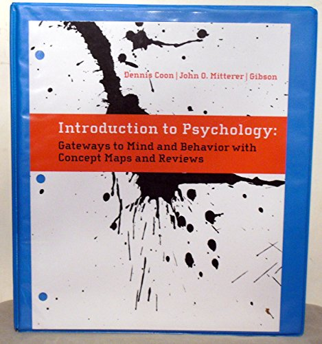 9780495975885: Introduction to Psychology: Gateways to Mind and Behavior with Concept Maps and Reviews