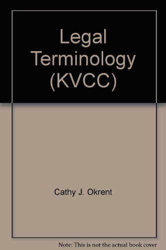 9780495980599: Legal Terminology (KVCC)