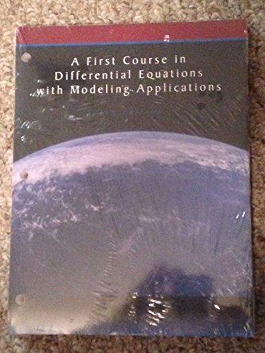 9780495991335: A First Course in Differential Equations with Modeling Applications w/ WebAssign Loose-Leaf