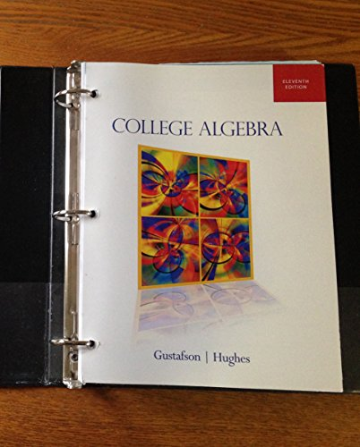 9780495991618: College Algebra 11th Edition Author: Gustafson and Frisk Publisher: Cengage (College Algebra 11th Edition)