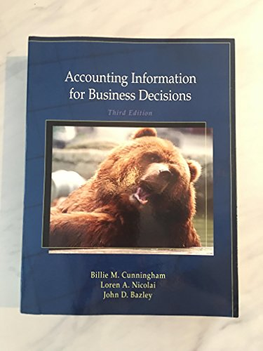 9780495993070: Accounting Information for Business Decisions, 3rd edition