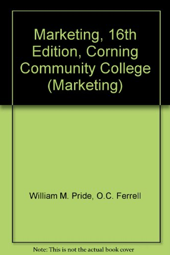 9780495996088: Marketing, 16th Edition, Corning Community College (Marketing)