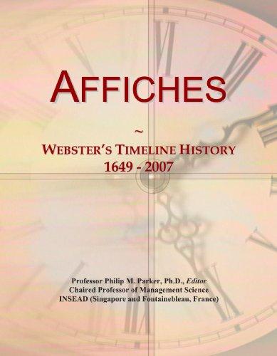 9780497116651: Affiches: Webster's Timeline History, 1649 - 2007