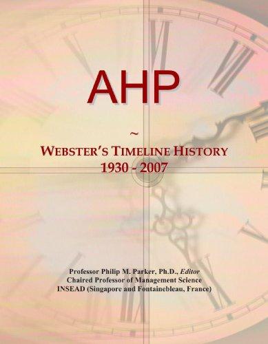 9780497117566: AHP: Webster's Timeline History, 1930 - 2007
